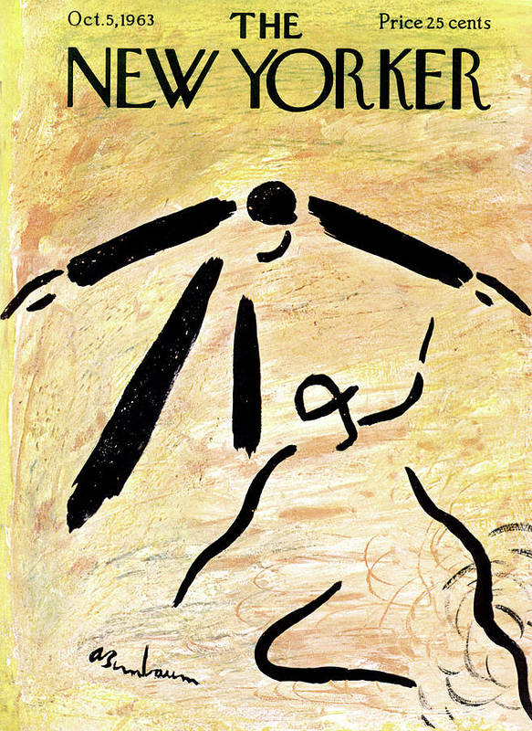 Sport Art Print featuring the painting New Yorker October 5th, 1963 by Abe Birnbaum