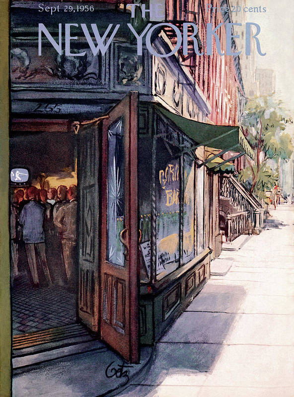 Suburb Art Print featuring the painting New Yorker September 29th, 1956 by Arthur Getz