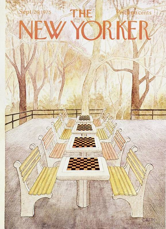 Illustration Art Print featuring the painting New Yorker September 29th 1975 by Charles Martin