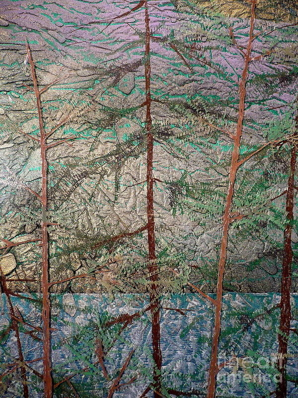 Landscape Art Print featuring the painting Seven detail by Rick Silas