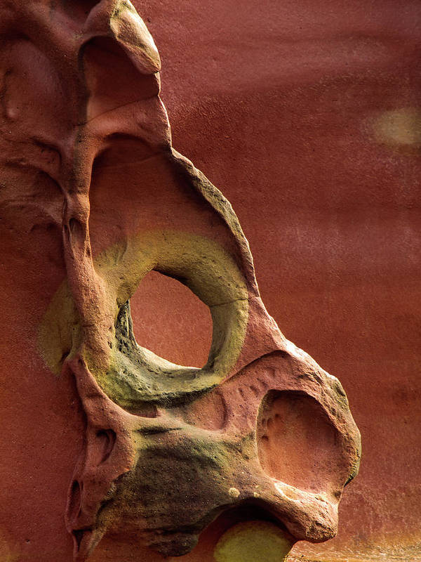 Geology Art Print featuring the photograph Sinister Forms by By Mediotuerto