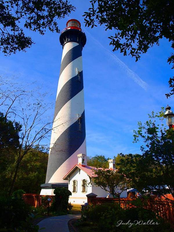 St. Augustine Art Print featuring the photograph St. Augustine Lighthouse by Judy Waller