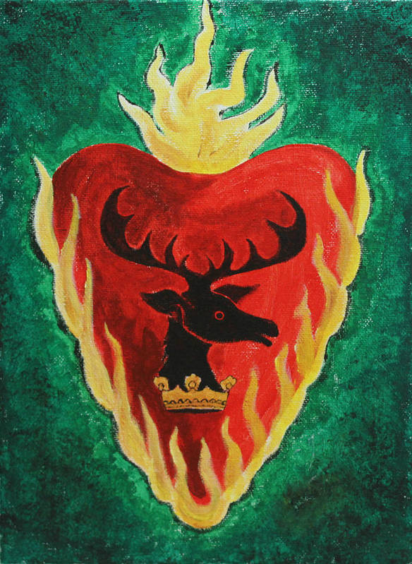 Stannis Baratheon Art Print featuring the painting Stannis Baratheon by Jackie Ngai