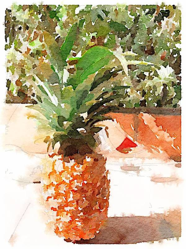 Pineapple Art Print featuring the digital art Sunday Brunch by Shannon Grissom