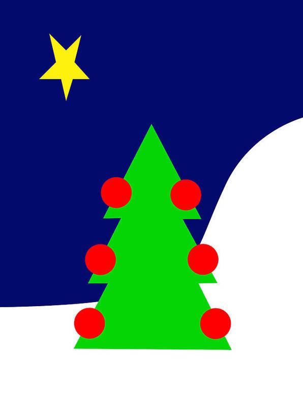 The Christmas Star Art Print featuring the digital art The Christmas Star by Asbjorn Lonvig