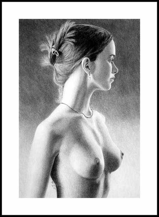 Pastel Art Print featuring the painting The girl with the glass earring by Joseph Ogle