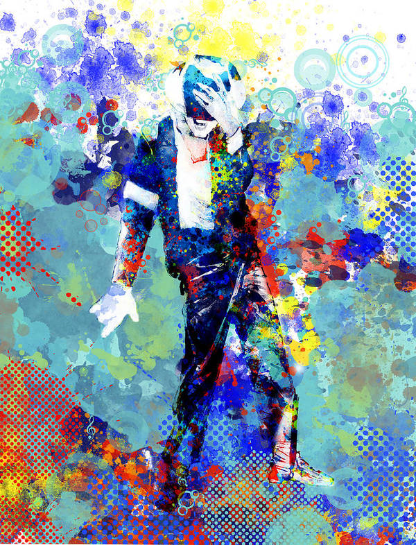 Michael Jackson Art Print featuring the painting The king by Bekim M