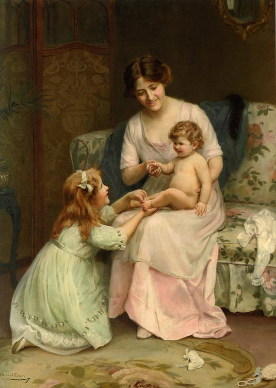 Baby/'s Birthday by Arthur J Art Print of Vintage Art Elsley