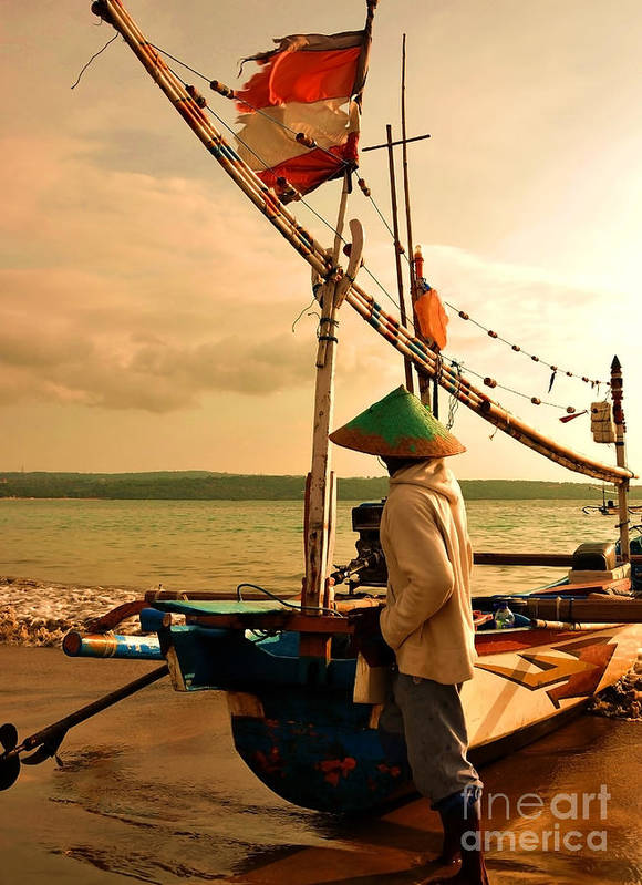 Boat Art Print featuring the photograph Traditional Fisherman by Wayan Suantara