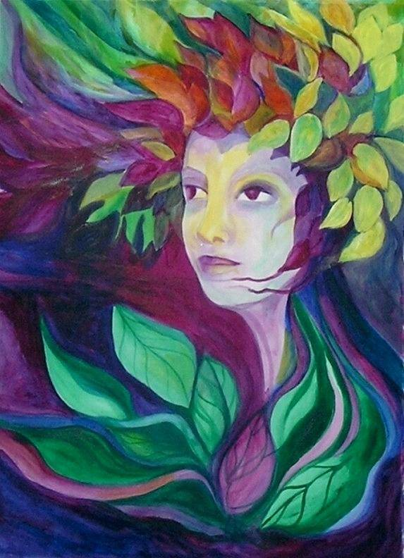 Woman Art Print featuring the painting Eternal Spring by Carolyn LeGrand