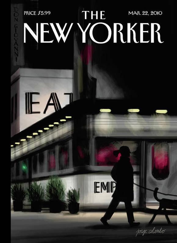 Evening Walk Art Print featuring the digital art Evening Walk by Jorge Colombo