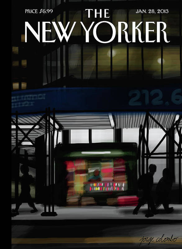 Newsstand Art Print featuring the painting Newsstand by Jorge Colombo