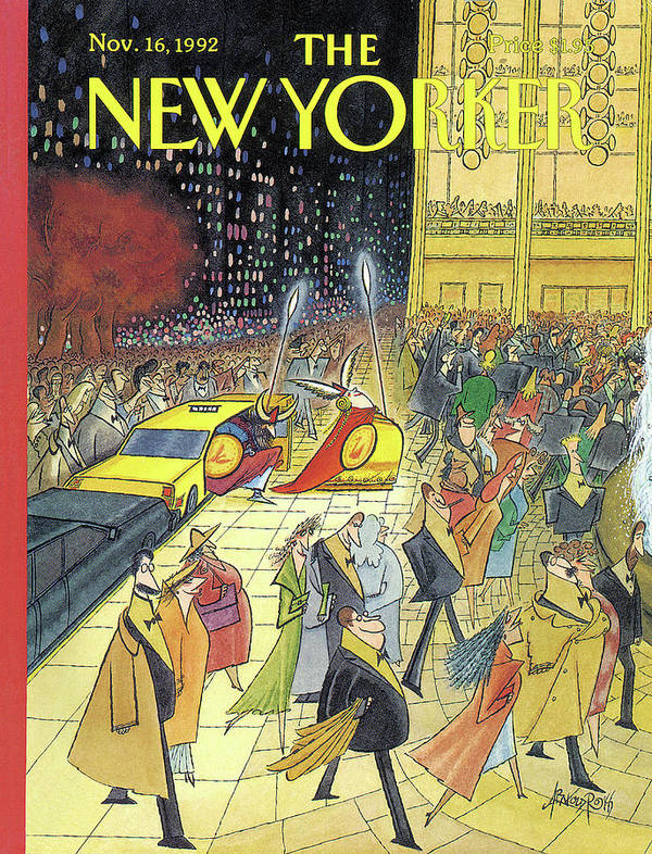 Lincoln Center Art Print featuring the painting New Yorker November 16th, 1992 by Arnold Roth