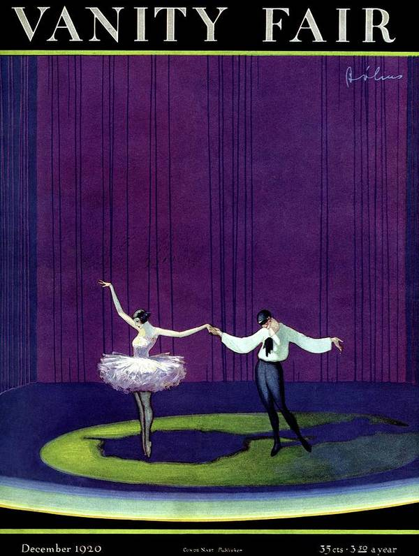 Illustration Art Print featuring the photograph Vanity Fair Cover Featuring A Masked Male Dancer by William Bolin