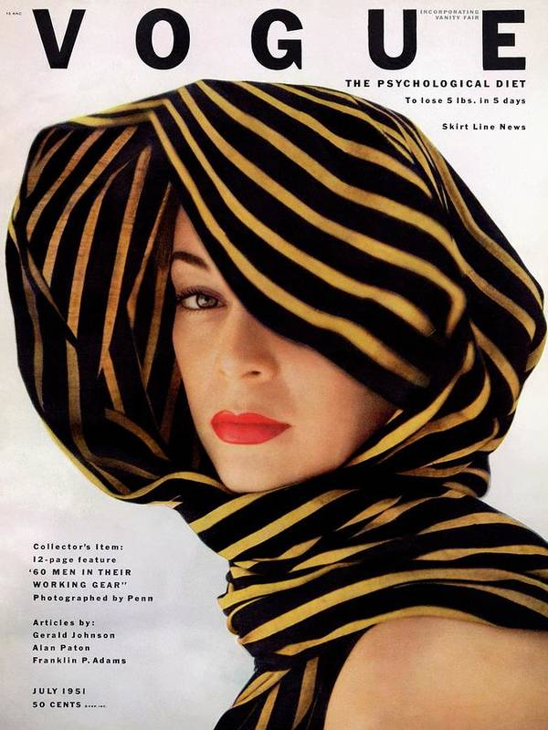 Fashion Art Print featuring the photograph Vogue Cover Of Jean Patchett by Clifford Coffin