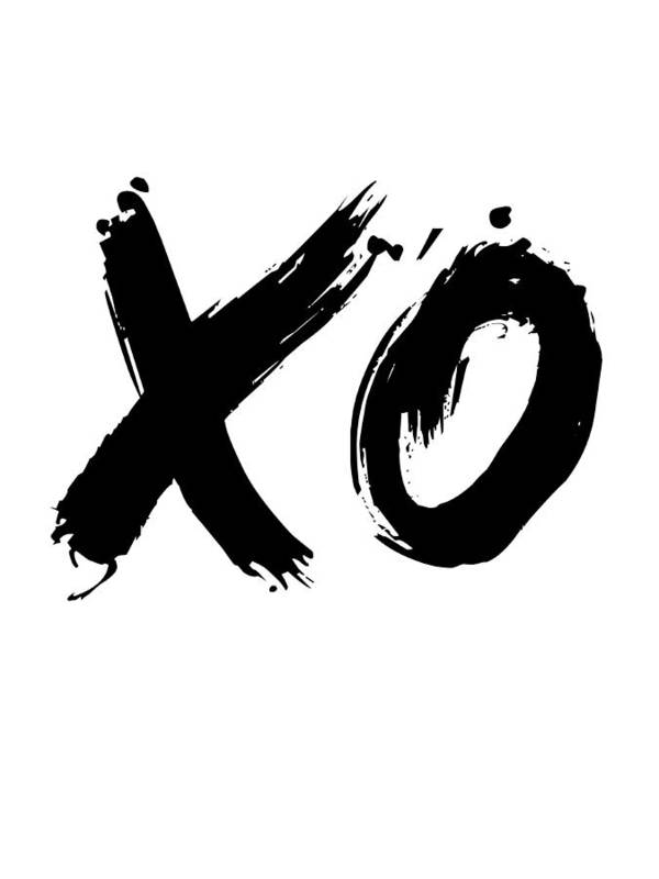 Motivational Art Print featuring the digital art XO Poster White by Naxart Studio