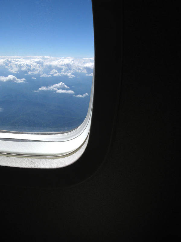 Airplane Window View Art Print By Nicholas Eveleigh