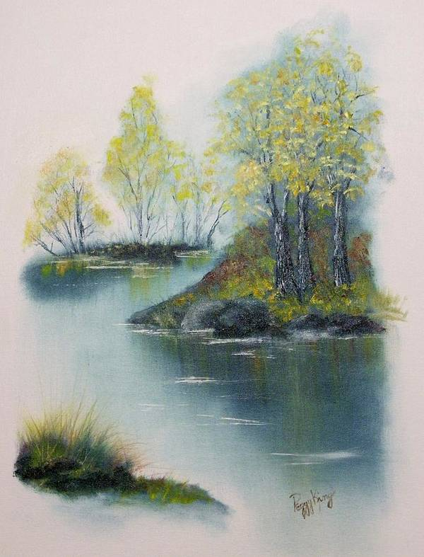 Landscape Art Print featuring the painting Autumn Afternoon by Peggy King