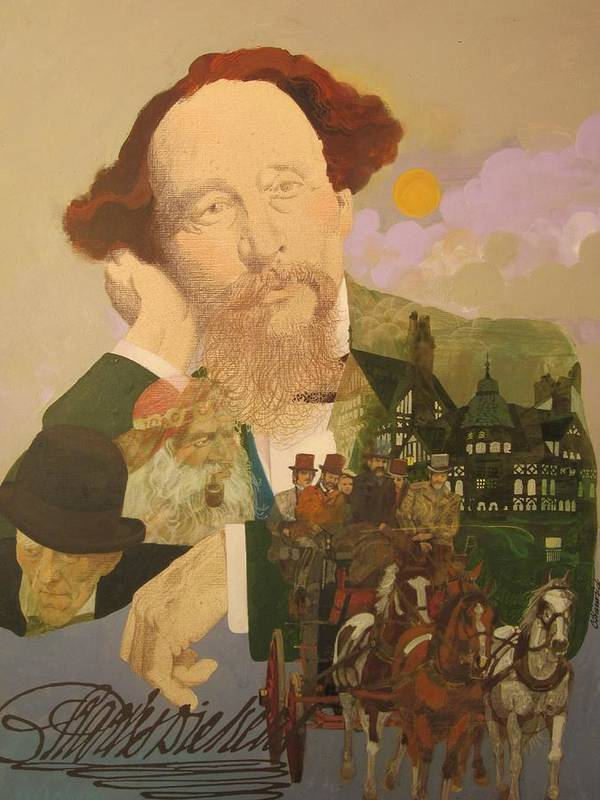 Charles Dickens Art Print by Chuck Hamrick