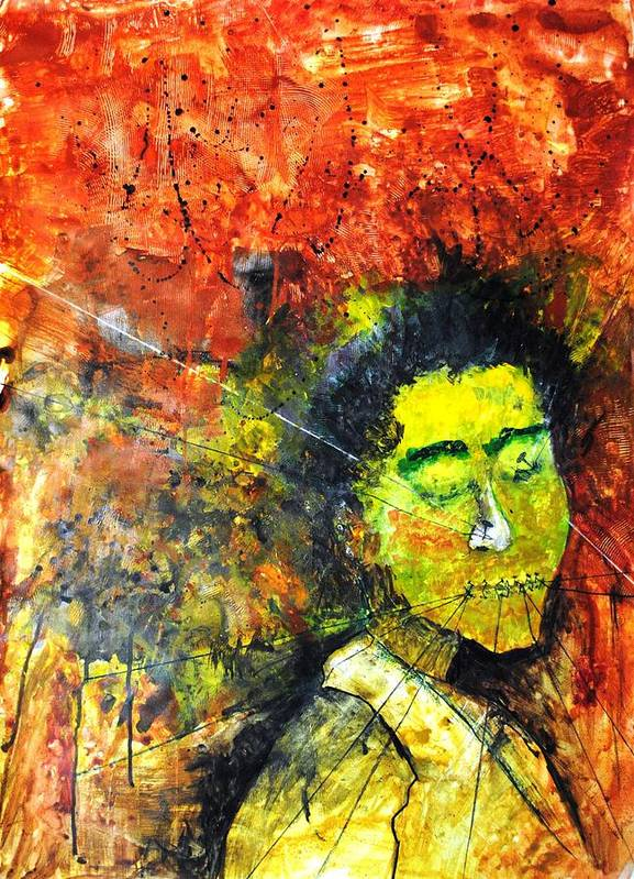 Enslaved Art Print featuring the painting Enslaved by Mayank Gupta