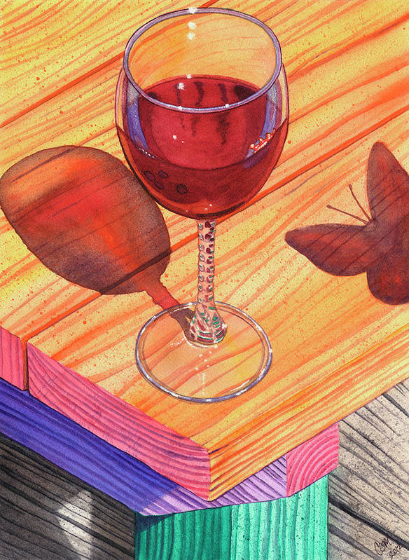 Wine Art Print featuring the painting Pinot Noir by Catherine G McElroy