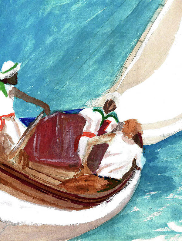 Art Print featuring the painting Setting Sail by Harry Richards
