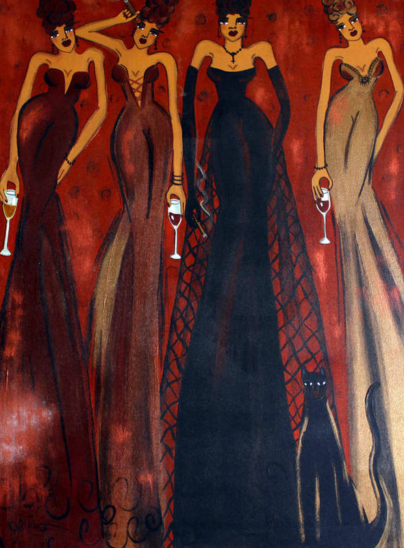 Women Art Print featuring the painting Vestal Virgins by Helen Gerro
