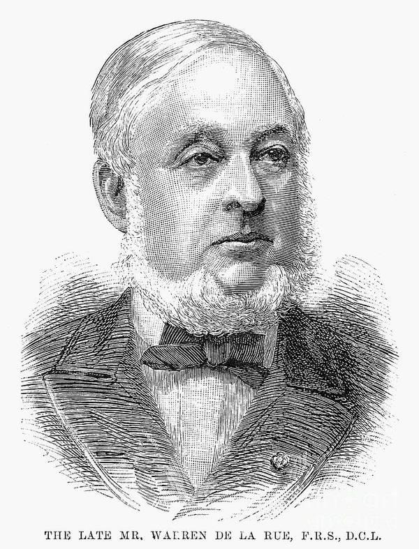 1889 Art Print featuring the photograph Warren De La Rue (1815-1889) by Granger