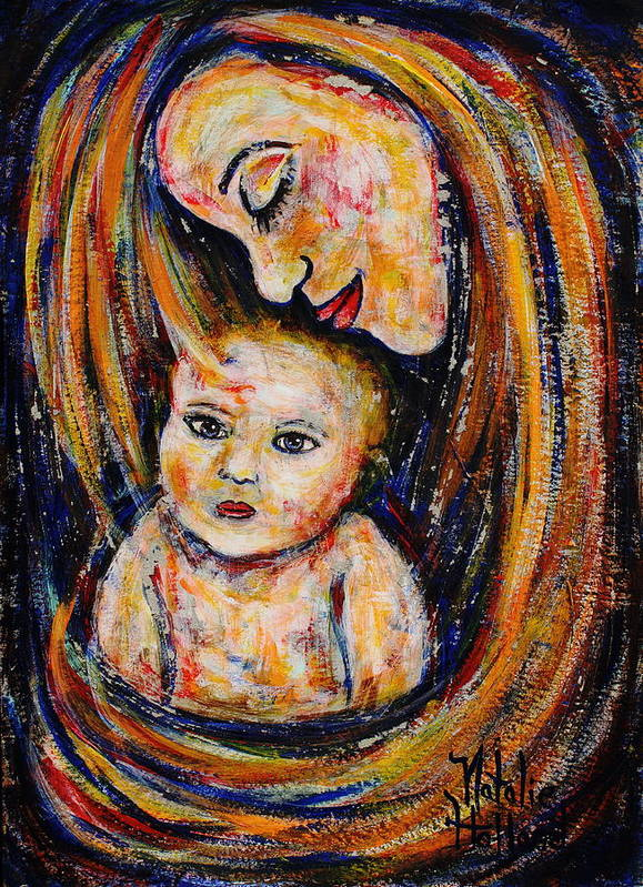 Expressionism Art Print featuring the painting Mother's Love by Natalie Holland