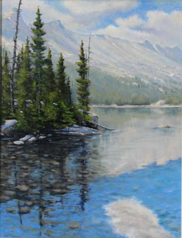 Landscape Art Print featuring the painting 060126-1814 Shallow Waters by Kenneth Shanika
