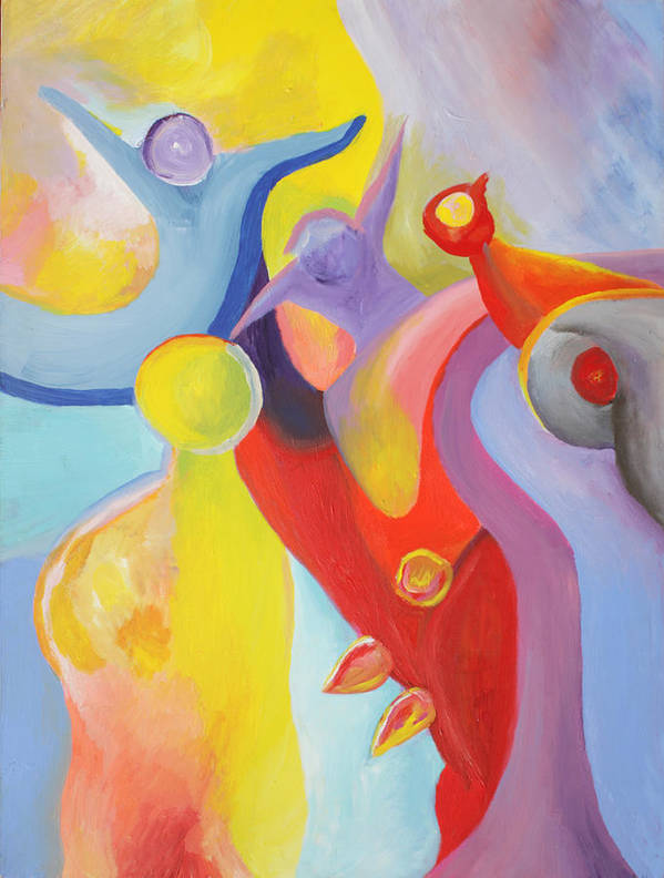 Abstract Art Print featuring the painting An Interdimensional Link by Peter Shor