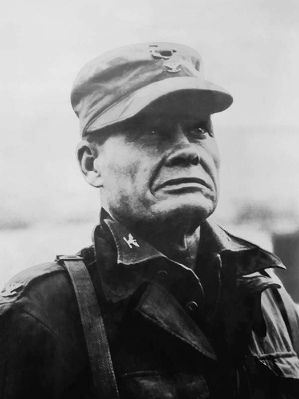 Chesty Puller Art Print featuring the painting Chesty Puller by War Is Hell Store