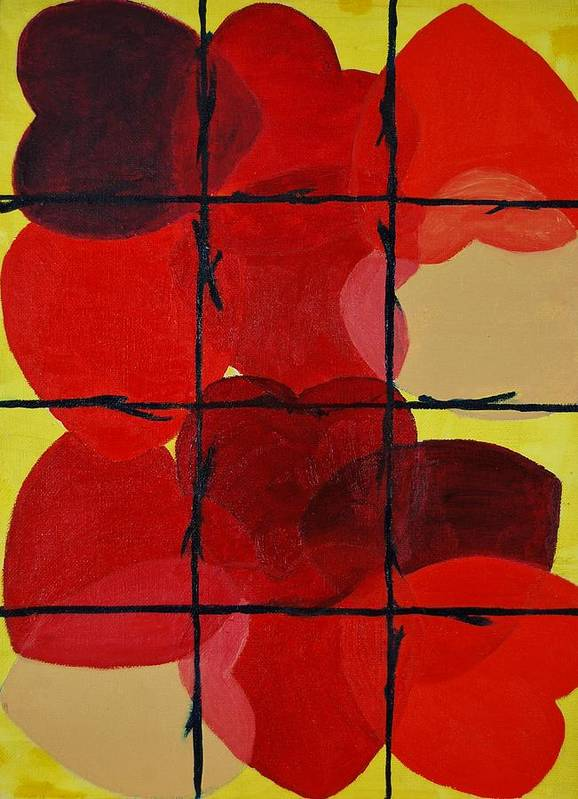 Love Art Print featuring the painting Love No Categories Please by Charla Van Vlack