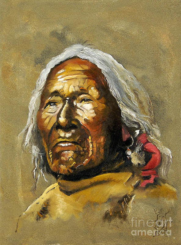 Southwest Art Art Print featuring the painting Painted sands of time by J W Baker