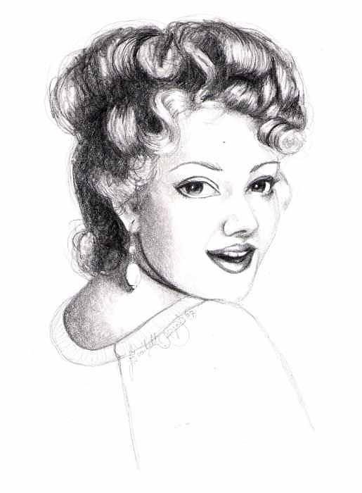Portrait Art Print featuring the drawing Self Portrait by Scarlett Royal
