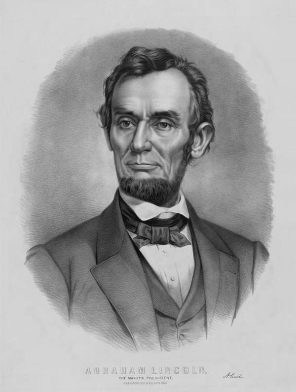 Abraham Lincoln Art Print featuring the drawing President Lincoln by War Is Hell Store