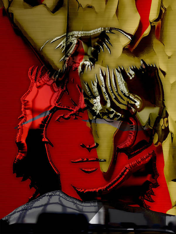 George Harrison Art Art Print featuring the mixed media George Harrison Art by Marvin Blaine
