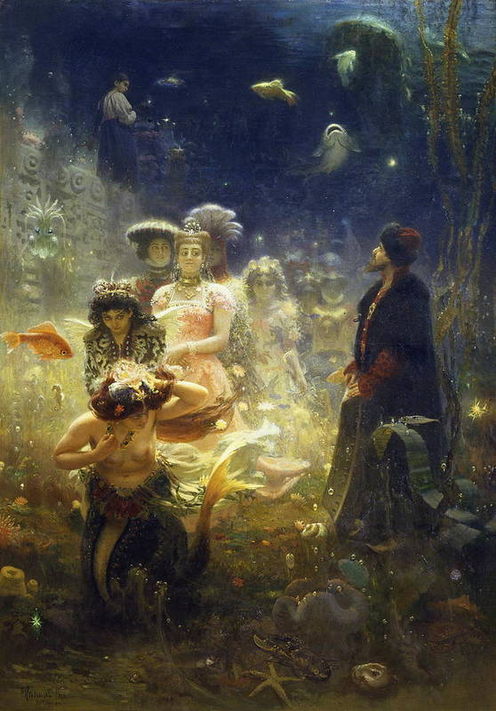 Ilya Repin Art Print featuring the painting Sadko by Ilya Repin
