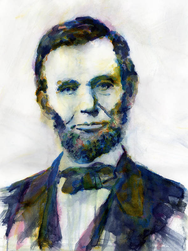 Abraham Art Print featuring the painting Abraham Lincoln Portrait Study 2 by Hailey E Herrera