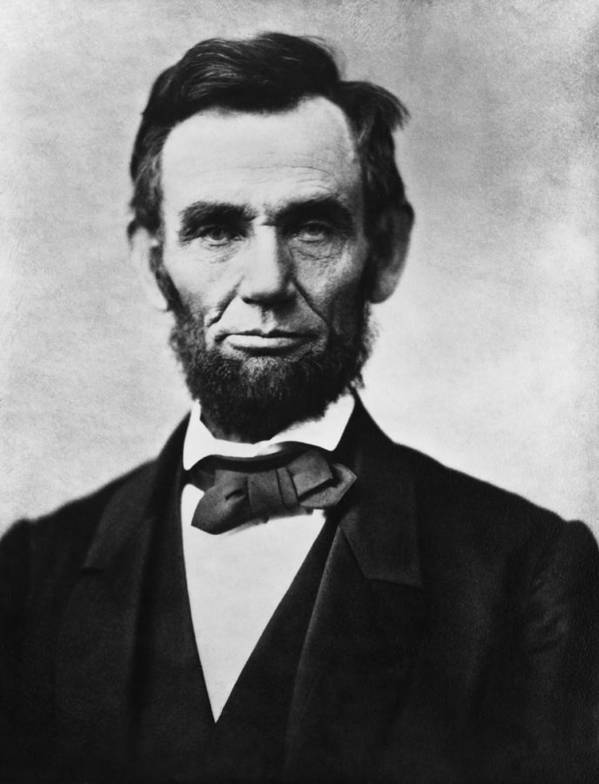 Abraham Lincoln Art Print featuring the photograph Abraham Lincoln by War Is Hell Store