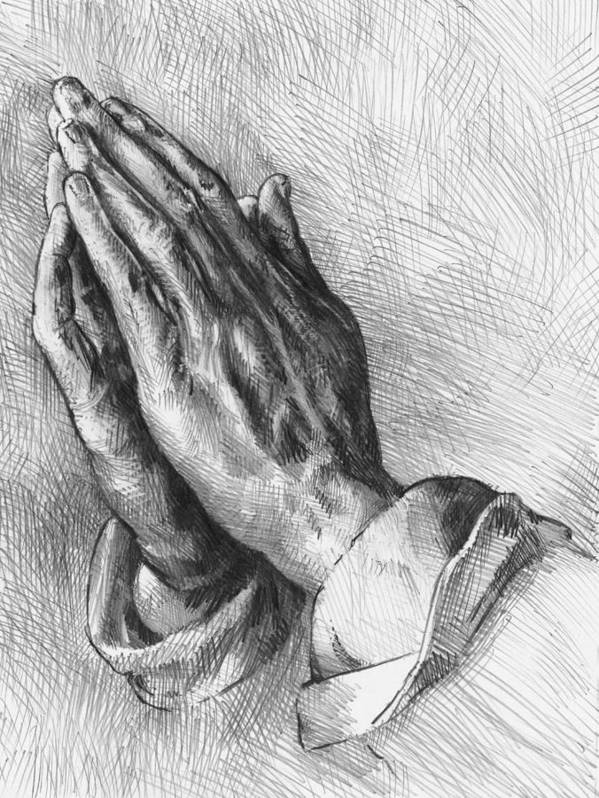 After Durer's Praying Hands Art Print by Peter Jochems