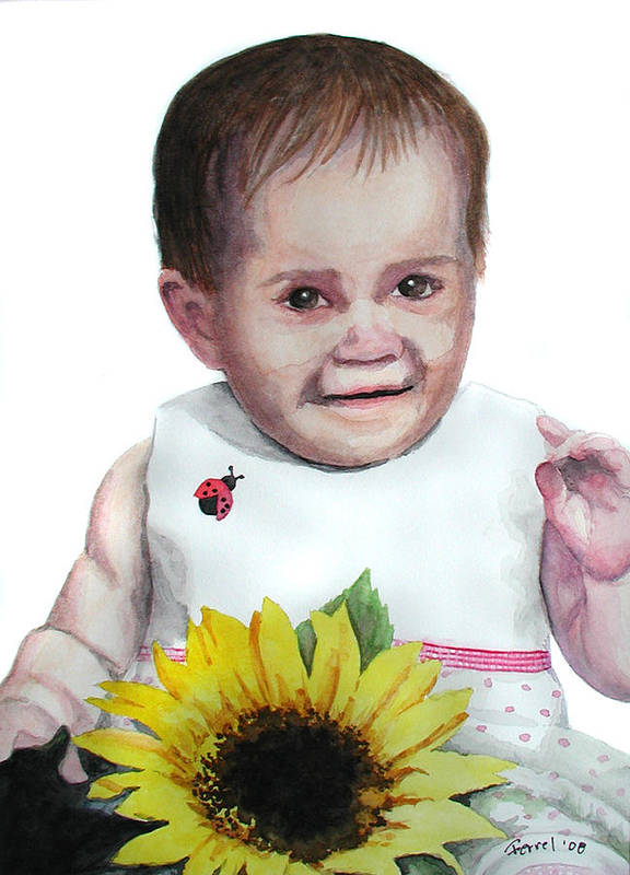 Baby Art Print featuring the painting Alaina by Ferrel Cordle