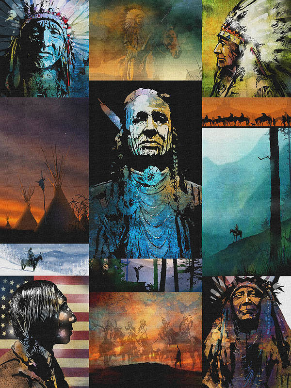 Native American Art Print featuring the painting American Tapestry by Paul Sachtleben