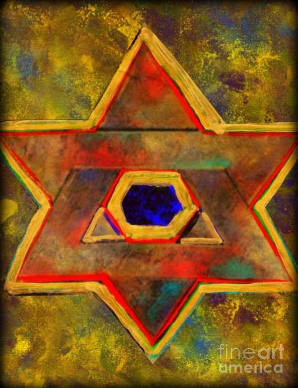 Ancient Star Art Print featuring the painting Ancient Star by Wbk