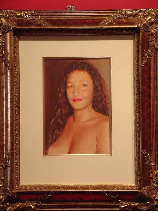 Nudes Art Print featuring the painting Annie 10-2 by Benito Alonso