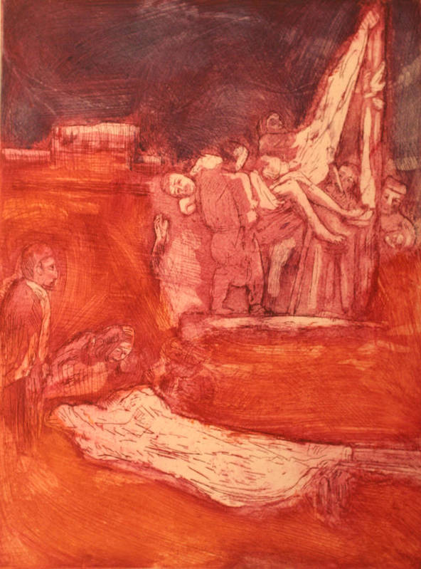 Religious Art Print featuring the painting Apres rembrandt by Biagio Civale
