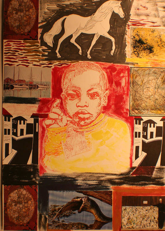 Art Print featuring the painting Bambino in Harlem by Biagio Civale