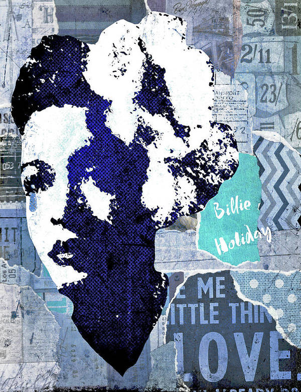 Billie Holiday Art Print featuring the digital art Billie Holiday by Regina Wyatt