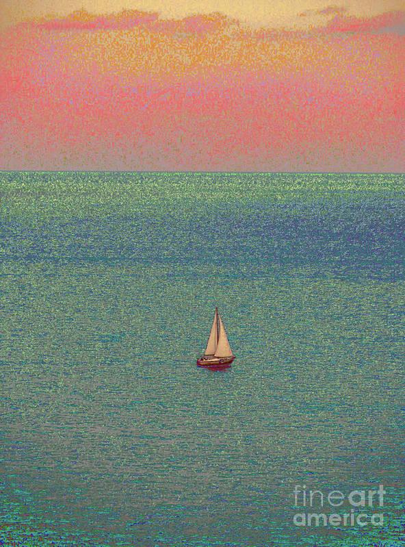 Alexa Show Me Sailboat Art Art Print featuring the photograph Breeze by Corinne Carroll