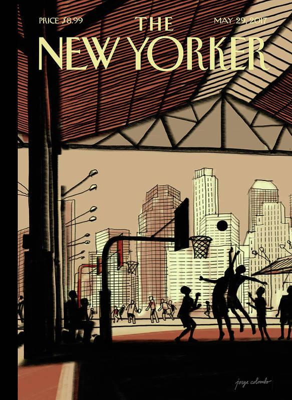 Brooklyn Bridge Park Art Print featuring the digital art Brooklyn Bridge Park by Jorge Colombo